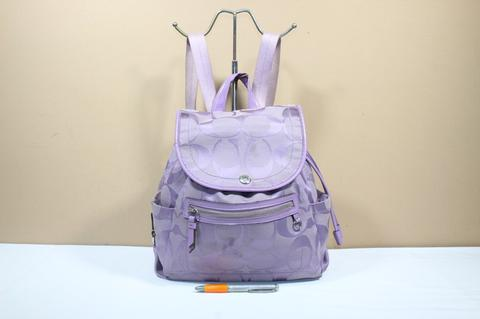 Tas branded COACH C376 Purple ransel backpack second bekas original asli be8751ebf4
