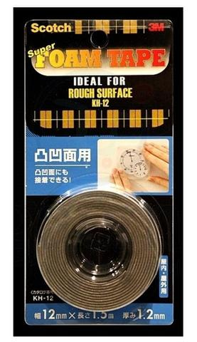 Double sided tape,Scotch KH 12 super strong rough surface,3M pe foam