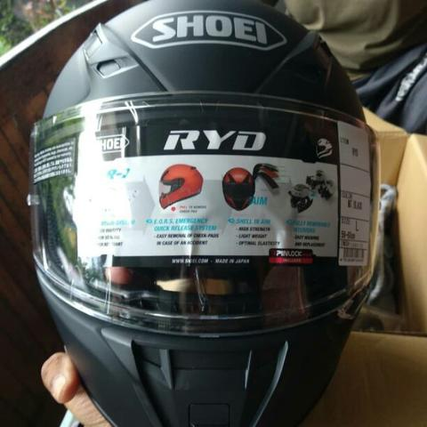 SHOEI RYD BLACK MATTE NEW GRATIS VISOR
