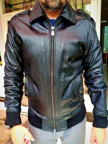 zara leather jacket black tag edition (rare item) size M fit to L