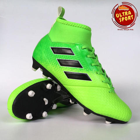 sports shoes a96c3 5fcc5 TERJUAL Sepatu Bola Dewasa Adidas Ace 17.3 Green Orange Black