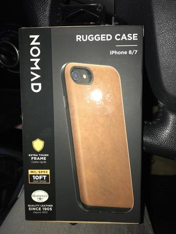 Nomad Horween Leather Rugged for iPhone 7 or 8