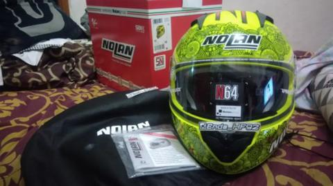 Nolan n64 lets go yellow M not arai xlite shoei agv suomy kyt nhk