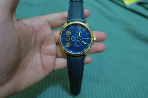 Jual jam Tangan Fossil ME1020 Men Mechanical Twist Blue Batangan ORIGINAL