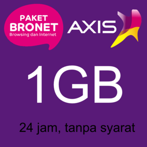 KARTU PERDANA KUOTA AXIS 1GB (NASIONAL) FULL 24 JAM ALL JARINGAN