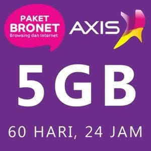KARTU PERDANA KUOTA AXIS 5GB (NASIONAL) FULL 24 JAM ALL JARINGAN