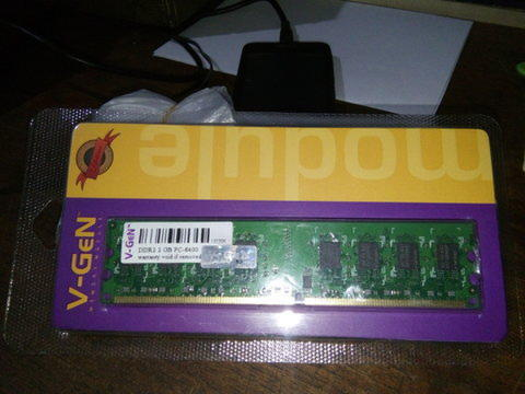 Memory Vgen 2 GB DDR2 PC 6400 @150 Ribu Qty 3 pcs
