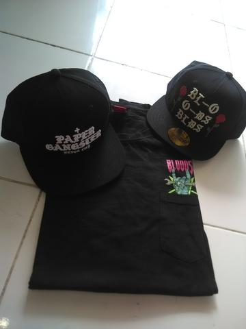 Snapback & Sleeve Shirt Bloods Original