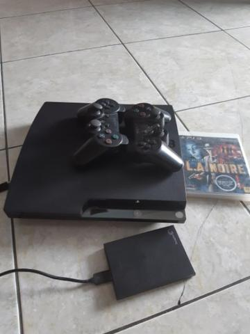 ps3 slim 120gb CECH 2102A+HDD EXT 500gb+bd ori+2stik