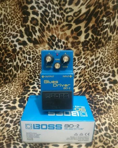 BOSS BD-2 Blues Driver Overdrive Pedal.
