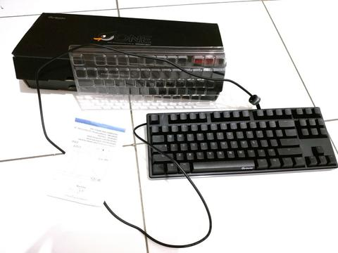 Ducky Mechanical Keyboard TKL Non Led Red Cherry Mx Like New MALANG