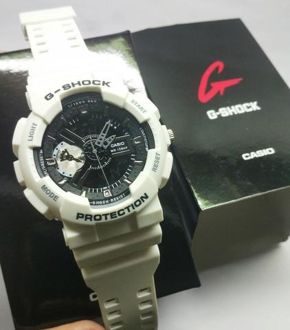 GSHOCK DUALTIME GA 110 FULL WHITE