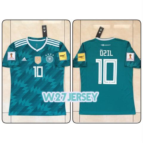 Jersey Germany Away World Cup 2018 name player Ozil, Muller + Patch