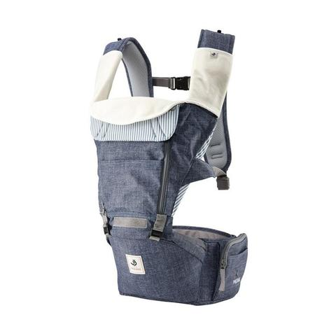 Pognae All New No.5 Waterproof Outdoor Hipseat Carrier Denim Blue Gendongan Bayi