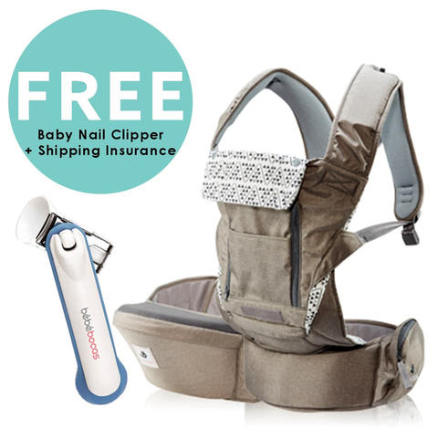 Pognae No. 5 Plus Hipseat and Baby Carrier Mocha Gendongan Bayi