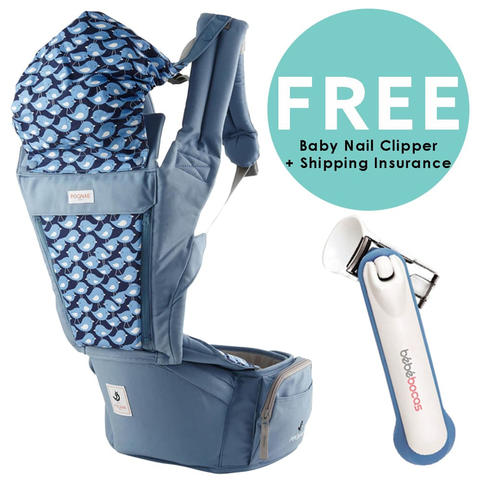 Pognae Orga Plus Hipseat and Baby Carrier Blueberry Gendongan Bayi