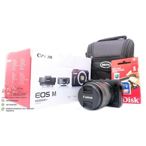 [Radz Camera Shop] Canon EOS M Black Kit 18-55mm IS STM Ex Garansi DS Mulus