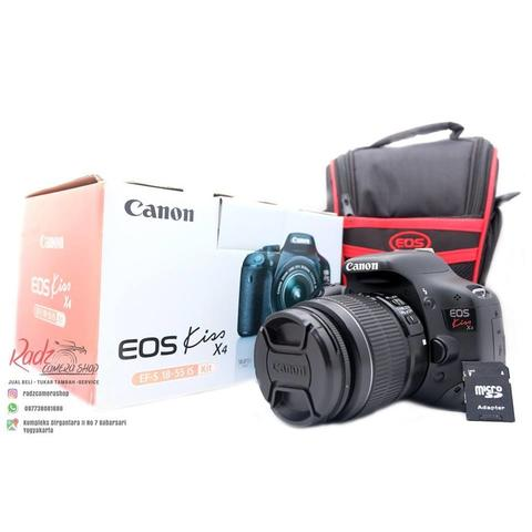 [Radz Camera Shop] Canon Kiss X4 Kit 18-55 IS II SC 14rb-an Mulus