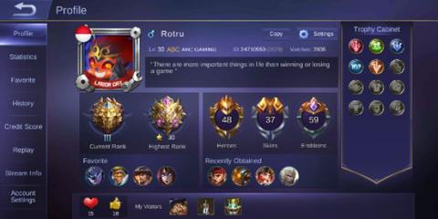 WTS Jual akun mobile legend android