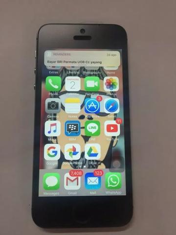 Iphone 5 black slate 16gb custom model iphone 6 normal murah aja