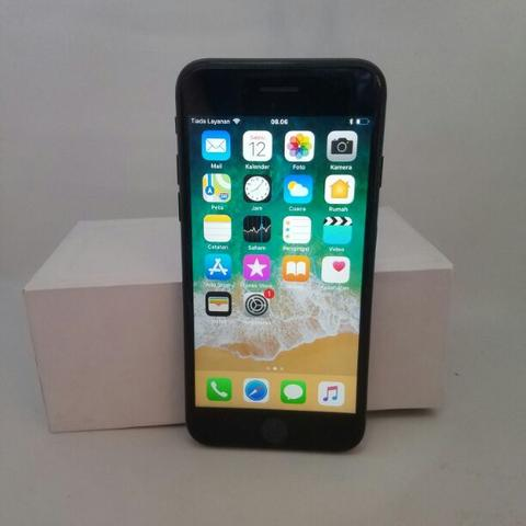 iPhone 7 128GB Black Matte Ex Regional France Fullset Bukan Rekon Bisa TT