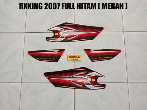 Striping RXKing 2007 Full Hitam ( Merah )