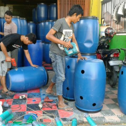 drum plastik komposter sampah