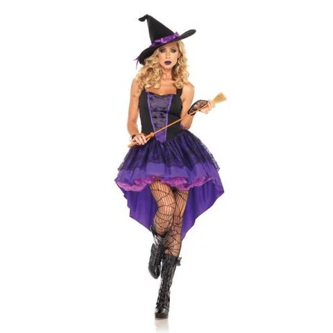 Witch Costume -Purple Witch Costume