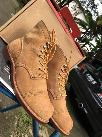 Sepatu biots red wing iron ranger 8083 redwing red wings not alden sagara wolverine