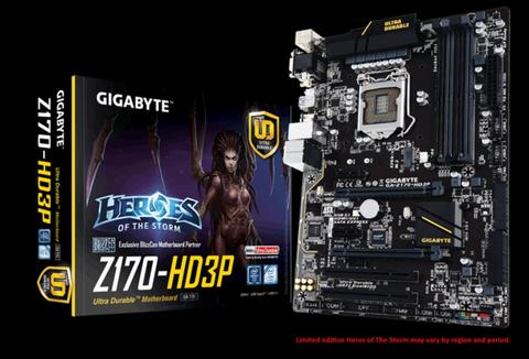 Gigabyte Motherboards GA Z170 HD3P LGA1151 Intel Z170 ATX DDR4 Limited Edition