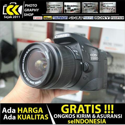 Canon EOS 550D Kit 18-55mm IS II SC 2919 Murah aja - CKPHOTO