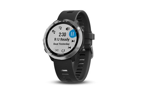 Garmin Forerunner 645 Music Black Stainless - GPS Running Smartwatch Fitness