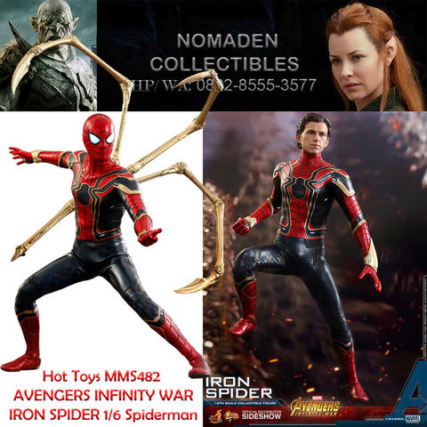 Hot Toys MMS482 AVENGERS INFINITY WAR - IRON SPIDER 1/6 spiderman