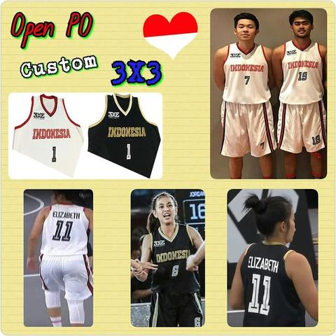 Open PO Jersey Basket Anak2/Dewasa Custom, Timnas Basket Indonesia 3X3