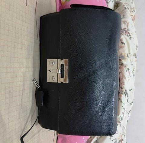 Salvatore Ferragamo grained leather clutch original not lv hermes bally bottega tods