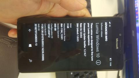 Lumia 950 4G Pure View zeiss 20mp win 10 mantab