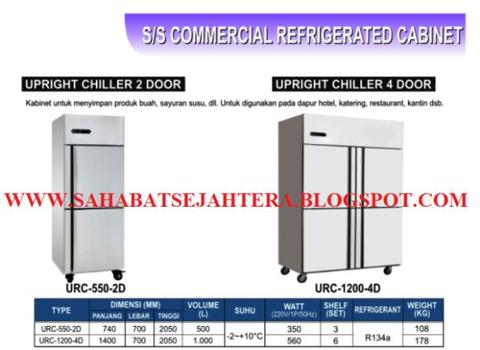 STAINLESS STEEL UPRIGHT CHILLER GEA!!!!!HARGA MURAH & BISA NEGO!!!!!