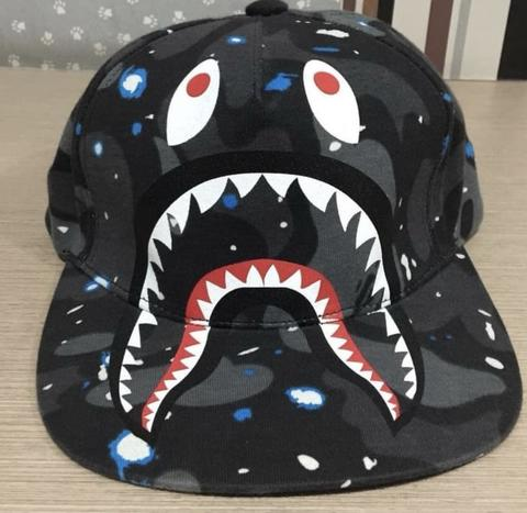 Hat Cap SnapBack Bape Shark Camo Space Rare Nowadays