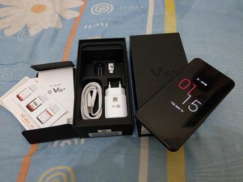 bs TT/BT LG V30+ plus black 128GB single mulus fullset
