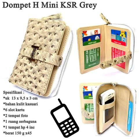 Dompet Kulit Hp H KSR Mini GREY