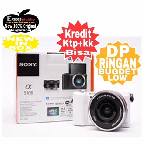 Kredit LOw Dp 800rb Sony Alpha a5100 Kit 16-50mm Ditoko ktp+kk Wa;081905288895