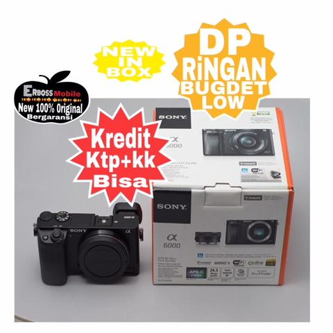 Kredit LOw Dp 800rb SONY Alpha A6000 Body Black Ditoko promo ktp+kk Wa;081905288895