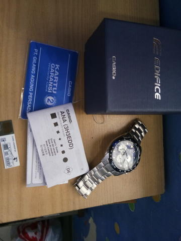 Original Casio Edifice EF-521GF Blue Dial not seiko, citizen, mido, orient