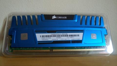 Ram PC Corsair Vengeance Blue ddr3 4gb Pc12800
