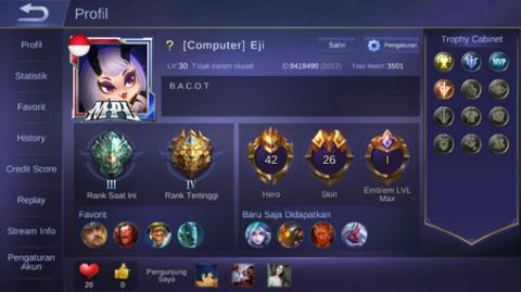 Akun mobile legends murah