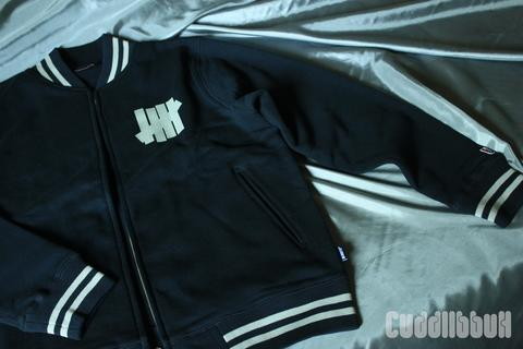 varsity undefeated zip navy size M 2nd