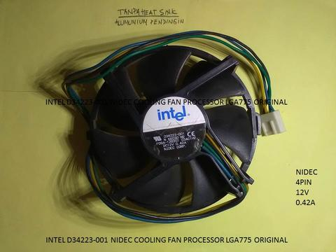 INTEL D34223-001 NIDEC COOLING FAN PROCESSOR LGA775 ORIGINAL