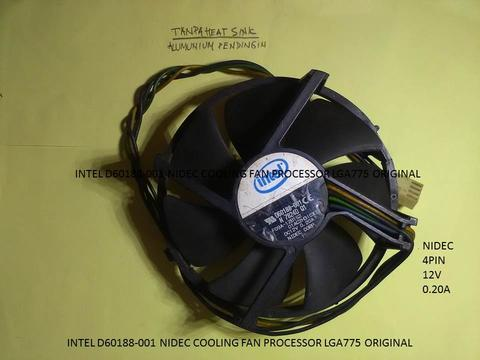 INTEL D60188-001 NIDEC COOLING FAN PROCESSOR LGA775 ORIGINAL
