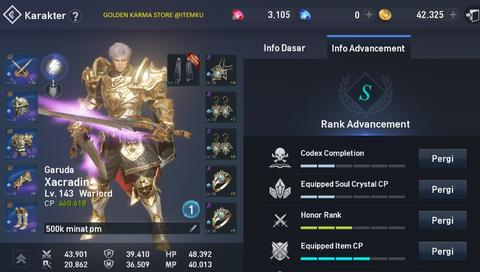 AKUN LINEAGE 2 REVOLUTION FULL BLUE SET CP 460K+++ MURAH