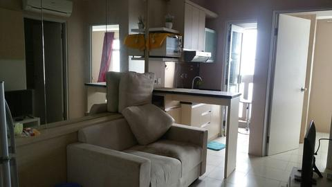 Apartemen Green Bay 2 Kamar 37m2 Fullfurnish Tower F Tahap 2 View Laut